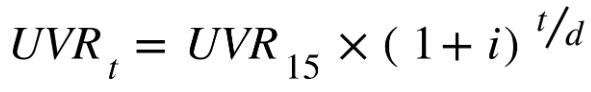 formula uvr